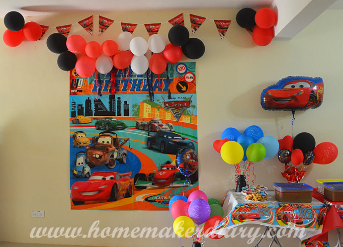 Disney Cars Birthday Party A Homemakers Diary
